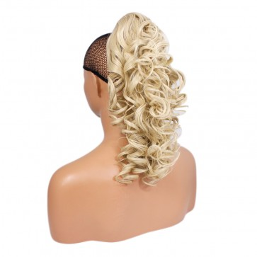 17 Inch Ponytail Curly Claw Clip - Lightest Blonde #60