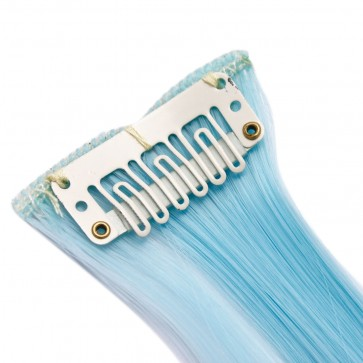 """20"""" HIGHLIGHTS Turquoise Straight 8pcs 50g"""