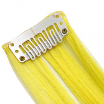 "20"" Clip in Hair Extensions HIGHLIGHTS Neon Yellow Straight 8pcs 50g"