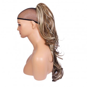 22 Inch Ponytail Flick Claw Clip - Ash Brown/Blonde Mix #10/613