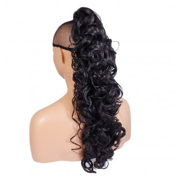 "22"" PONYTAIL CURLY Black #1b REVERSIBLE Claw Clip"