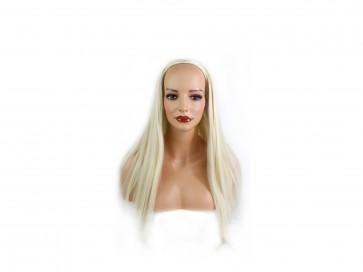 22 Inch Ladies 3/4 Wig Straight - Swedish Blonde
