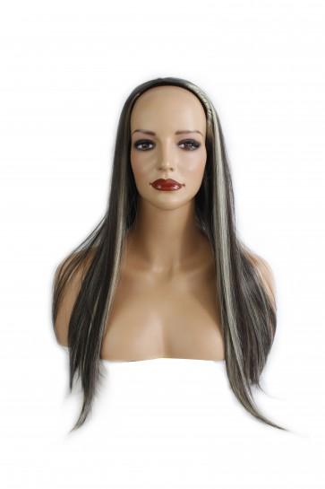 22 Inch Ladies 3/4 Wig Straight - Dark Brown/Blonde Mix #4/613