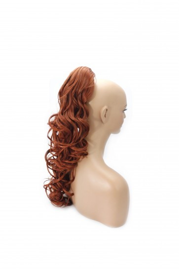 "22"" PONYTAIL WAVY Copper #350 REVERSIBLE Claw Clip"