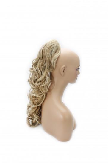 22 Inch Ponytail Wavy Claw Clip - Blonde Mix #18/613