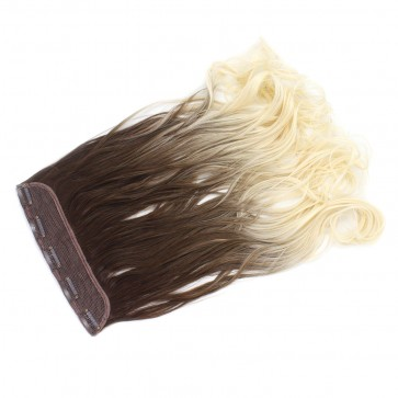 22 Inch One Piece Wavy - Light Brown / Bleach Blonde Ombre T12/613