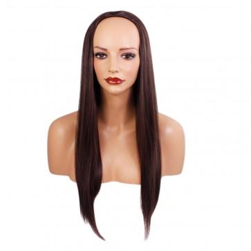 22 Inch Ladies 3/4 Wig Straight - Medium Brown