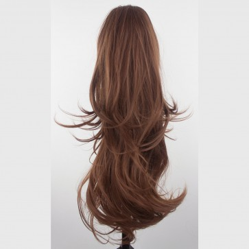 """22"""" PONYTAIL FLICK Chestnut Brown REVERSIBLE Claw Clip"""