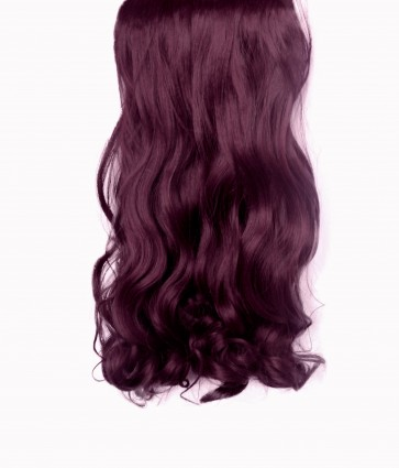 "20/22"" Clip in Hair Extensions CURLY Cheryl Cole Red #99J FULL HEAD 8pcs"