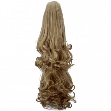 """22"""" PONYTAIL FALLING CURLS Honey Blonde REVERSIBLE Claw Clip"""