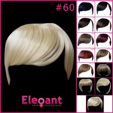 FRINGE BANG Clip in Hair Extensions Classic Style Lightest Blonde #60