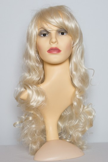 22 Inch Ladies Full Wig Curly - Lightest Blonde #60