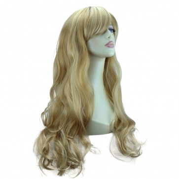 "22"" Ladies Full WIG Long Hair Piece LOOSE WAVES Blonde Mix #18/613"
