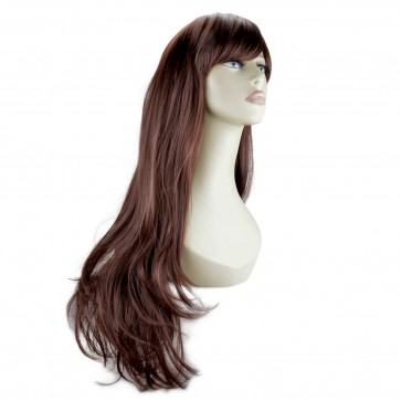 20 Inch Ladies Full Wig Flick - Dark Auburn #33