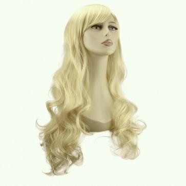 "22"" Ladies Full WIG Long Hair Piece WAVY Light Blonde #613"