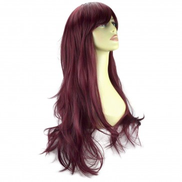 "20"" Ladies Full WIG Long Hair Piece FLICK Cheryl Cole Red #99J"