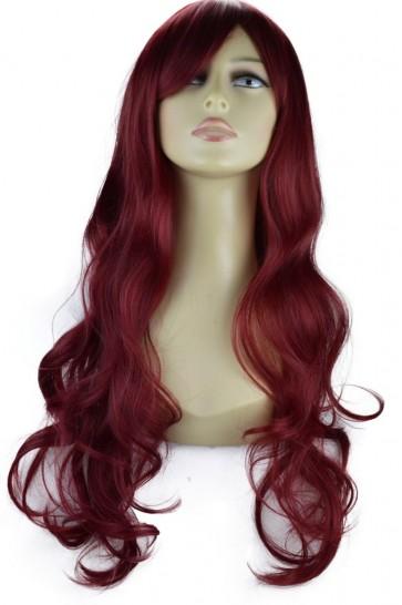 22 Inch Ladies Full Wig Loose Waves - Burgundy