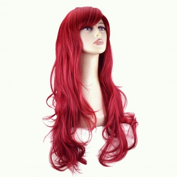"20"" Ladies Full WIG Long Hair Piece FLICK Style Pillar Red"