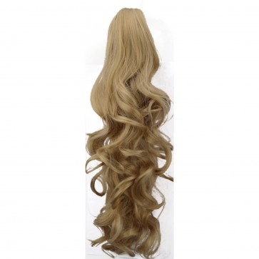 22 Inch Ponytail Wavy Claw Clip - Honey Blonde