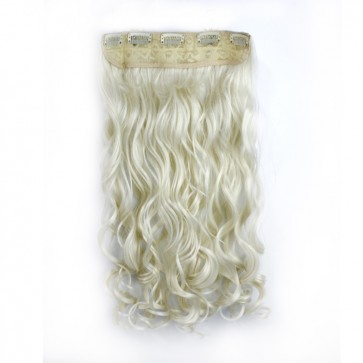 23 Inch One Piece Wavy - White Blonde
