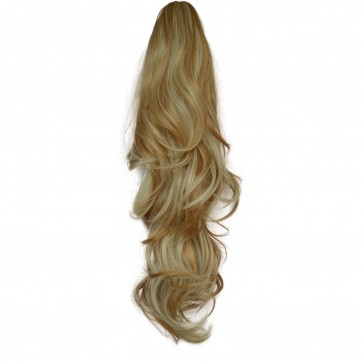 22 Inch Ponytail Flick Claw Clip - Strawberry Blonde Mix #27/613