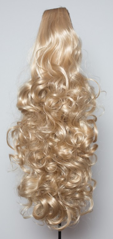 22 Inch Ponytail Curly Claw Clip - Ash Blonde