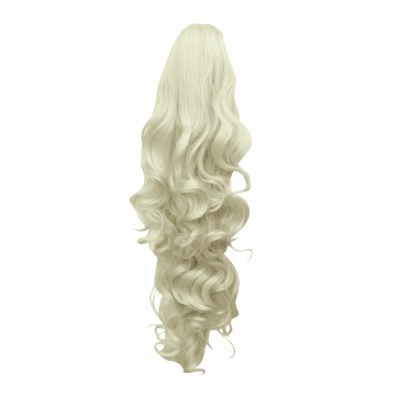 "22"" PONYTAIL FALLING CURLS Platinum Blonde #16/60 Claw Clip"