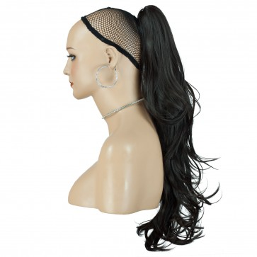 22 Inch Ponytail Flick Claw Clip - Dark Brown #4