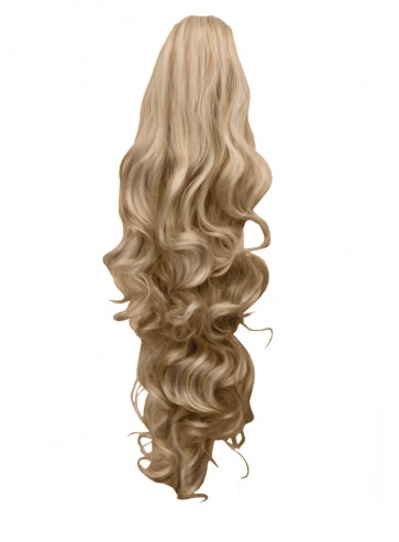 "22"" PONYTAIL FALLING CURLS Blonde Mix #18/613 REVERSIBLE Claw Clip"