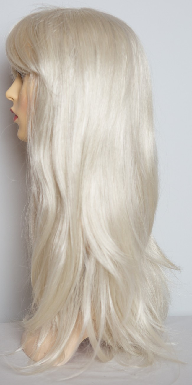 20 Quot Ladies Full Wig Long Hair Piece Flick Style Platinum