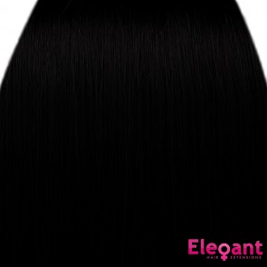 "18"" Clip in Hair Extensions STRAIGHT Jet Black #1 FULL HEAD 8pcs"