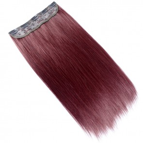 "20"" Clip In ONE PIECE STRAIGHT Burgundy FULL HEAD 1pc"
