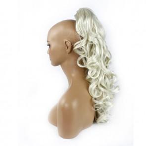 22 Inch Ponytail Wavy Claw Clip - Platinum Blonde
