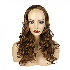 22 Inch Ladies 3/4 Wig Wavy - Chestnut Brown