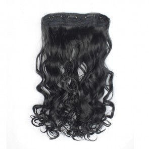 23 Inch One Piece Wavy - Natural Black