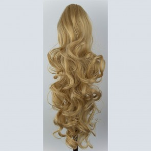 22 Inch Ponytail Wavy Claw Clip - Golden Blonde