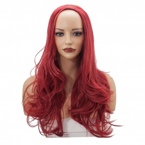 22 Inch Ladies 3/4 Wig Wavy - Pillar Red