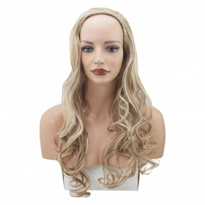 22 Inch Ladies 3/4 Wig Curly - Blonde Mix #18/613