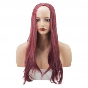 22 Inch Ladies 3/4 Wig Straight - Burgundy
