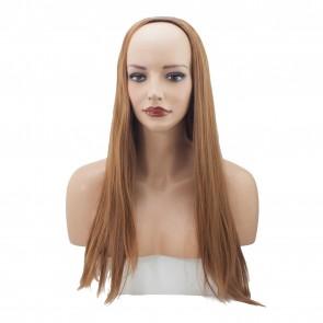22 Inch Ladies 3/4 Wig Straight - Light Auburn