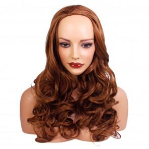 22 Inch Ladies 3/4 Wig Wavy - Light Auburn