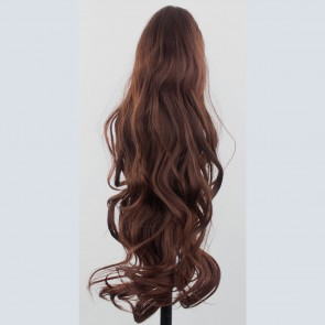 "22"" PONYTAIL FLICK Dark Auburn #33 REVERSIBLE Claw Clip"