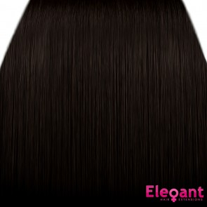 "15"" Clip in Hair Extensions STRAIGHT Dark Brown #4 FULL HEAD 8pcs"