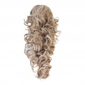 22 Inch Ponytail Curly Claw Clip - Blonde Mix #18/613