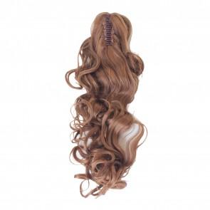 22 Inch Ponytail Curly Claw Clip - Light Auburn /1