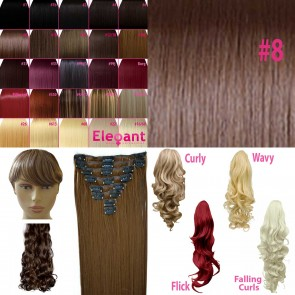 Fringe Bang Clip in Hair Extension - Chocolate Brown #8