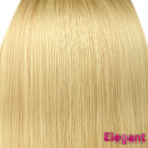 "15"" Clip in Hair Extensions STRAIGHT Light Blonde #613 FULL HEAD"