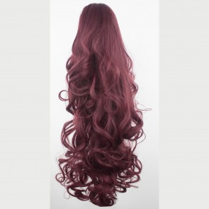 """22"""" PONYTAIL FALLING CURLS Cheryl Cole Red #99J REVERSIBLE Claw Clip"""