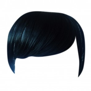 FRINGE BANG Clip in Hair Extension STRAIGHT Jet Black #1