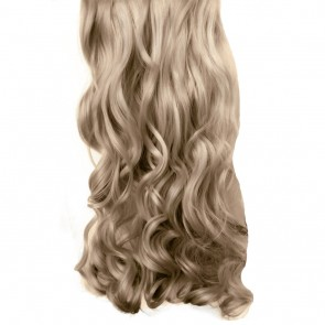 "20/22"" Clip in Hair Extensions CURLY Champagne Blonde #22 FULL HEAD 8pcs"